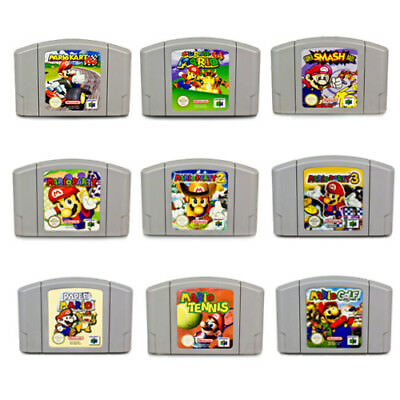 N64 Games Super Mario Mario Kart Party 1 2 3 Smash Bros Paper Golf Tennis