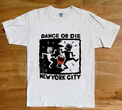 RARE!! KEITH HARING 1990's Dance or Die NYC New York City T-Shirt USA Size S-XXL