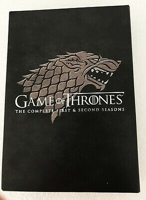 Game Of Thrones •  Complete Seasons 1 and 2 DVD 10-Disc Set •  all 20 episodes