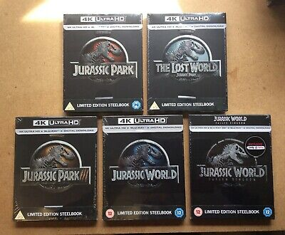 Jurassic Park - Uk Exclusive 4K Ultra Hd Blu Ray Steelbook Collection - New