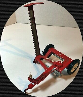 VINTAGE TRU SCALE Red Sickle Bar Hay Mower Tractor Implement Carter ERTL  1/16
