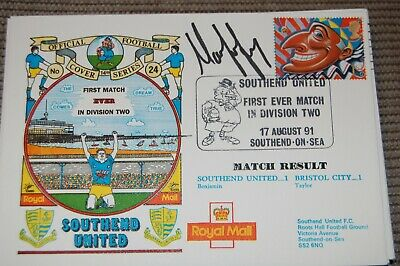 Southend United V Bristol Rover 1991 Fdc Signed Martin Ling