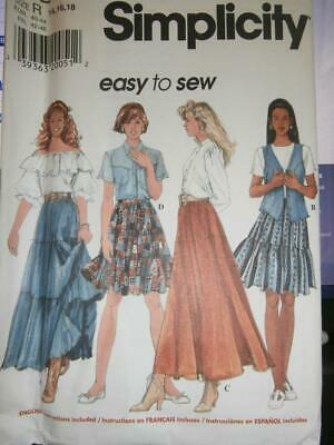 7474 UNCUT Simplicity Sewing Pattern Girls Pullover Knit Top Shorts Easy OOP SEW
