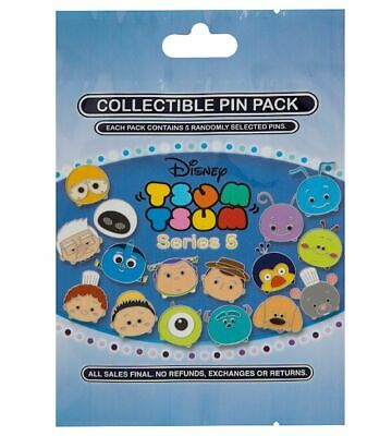 Disney Parks Collectible TSUM TSUM Series 5 Mystery Bag 5 Pins Sealed NEW