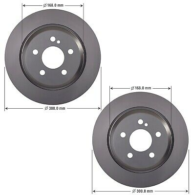 Mercedes E400 R172 W212 SLK350 SLC300 Front L//R Brake Disc Rotor Genuine New
