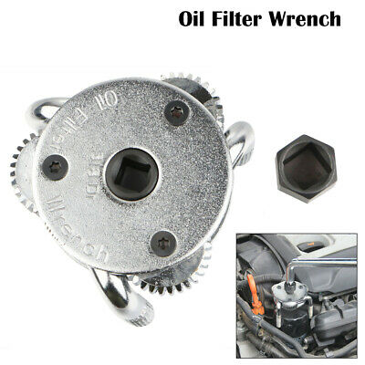 2 Way Oil Filter Wrench Auto Adjustable Universal 3-Jaw Remover For Car Trucks