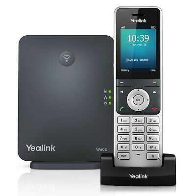 Yealink W60P Cordless DECT IP Phone and Base Station, 2.4-Inch Color Display....
