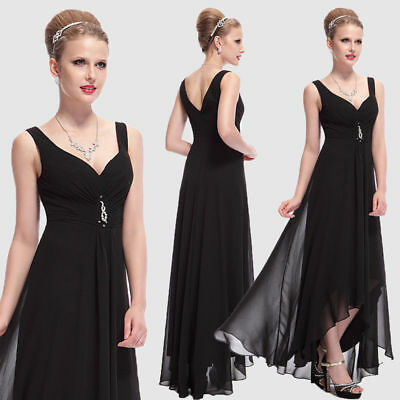 93a0c659e42b Ever-Pretty Lady Long Prom Gowns Formal Cocktail Dress Black Evening Party  09983