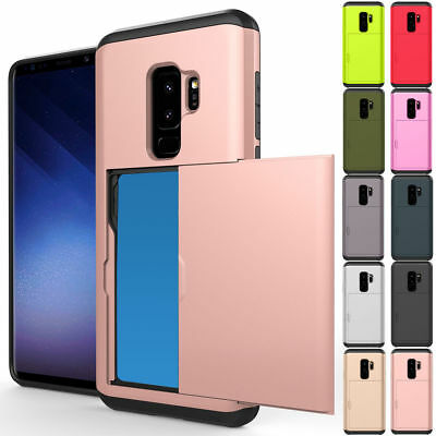 Case For Samsung Galaxy S9 Plus S8 S6 S7Edge Wallet Slide Card Slot Holder Cover