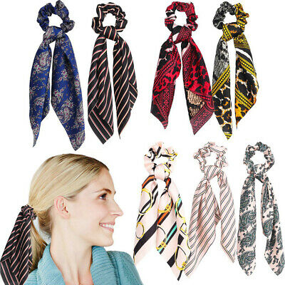 Attractive Ponytail Scarf Bow Hair Rope Tie Scrunchies Ribbon Fabric Hair Bands