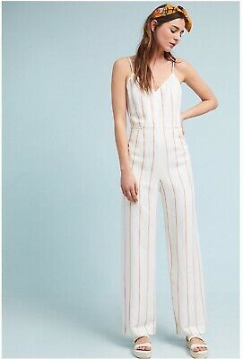 e81511525860 NWT ANTHROPOLOGIE THE Essential Yarn-Dyed Jumpsuit size 4P - $44.99 ...