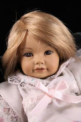 "9"" Heidi Ott Little Ones Gusta Doll 779 Vintage Swiss Vinyl Blonde Human Hair"
