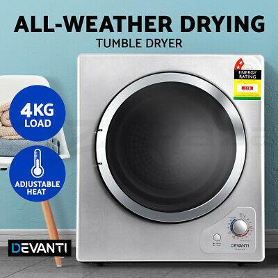 Devanti 4kg Tumble Dryer Clothes Dryer Machine Air Vented Front Load Wall Mount