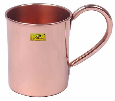Antique Traditional Design Plain Copper Moscow Mule Drinkwere Beer Mug Cap-415ml