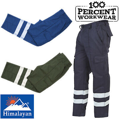 High Quality High Visibility Combat Work Trousers Mens Pants Knee Pad Pockets