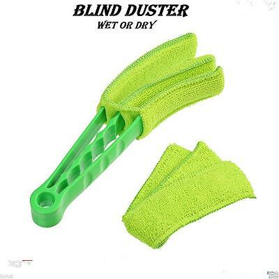 Convenient Triple Venetian Blind Cleaner Window Brush Duster Cleaning Tools
