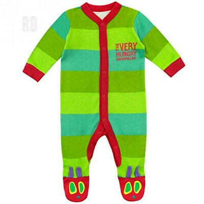 The Very Hungry Caterpillar Baby Sleepsuit & Hat 0 - 3 Months