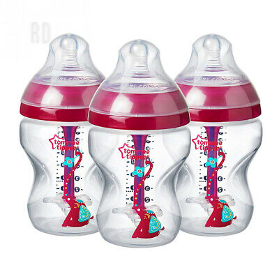 Tommee Tippee Decorated Advanced Anti-Colic Bottles, 260 ml, 260 Burgundy