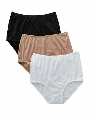 f28a6f7a48ff 3 Pack Olga Silky Smooth Comfort Without a Stitch Microfiber Brief Panties 9 /2XL