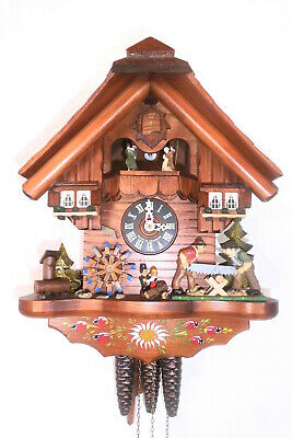 cuckoo clock musical play 2 melodies black forest wall clock 3 wight