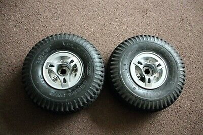 kymco super 8 mobility scooter parts pair of rear wheels, black tyres