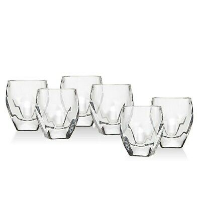 New Shannon Set Of 6 Crystals Rounded,Square Bottom Shot Liquor Glass,Glasses