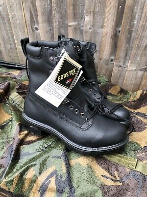 302bf866c828c NEW British Army Issue GoreTex Pro/Para/Cadet Black Leather Boots Size 6L