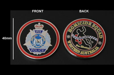 Western Australia Police Homicide Squad Challenge Coin (social)