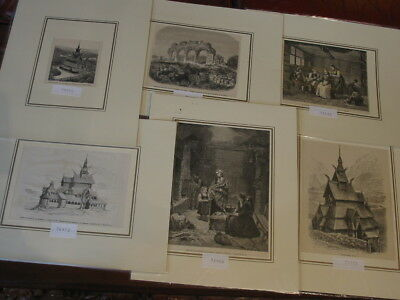Sammlung Lot 54 Stück-Stiche-Prints-Norwegen-Norway-Norge-Noreg-No.3 #