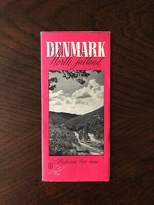 Vintage Denmark Travel Guide and Map | Mid-Century Denmark