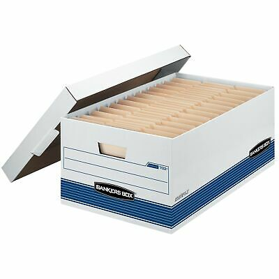 Bankers Box STOR/FILE Medium-Duty Storage Boxes, FastFold, Lift-Off Lid, Lega...