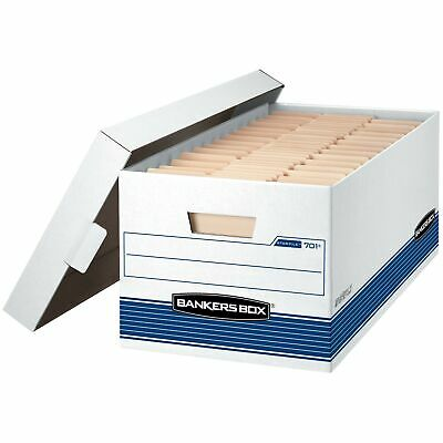 Bankers Box STOR/FILE Medium-Duty Storage Boxes, FastFold, Lift-Off Lid, Lett...