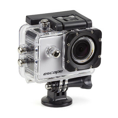 White New Action Camera comes with waterproof case, charger, case and straps.