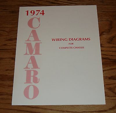 1974 chevrolet camaro wiring diagram manual for complete chassis 74 chevy