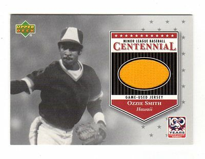 Ozzie Smith Mlb 2001 Upper Deck Minors Centennial Game Jersey (Padres,Cardinals)