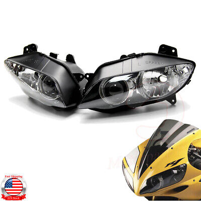 2004-2006 Yamaha YZF R1 Headlight Head Lamp Assembly Housing Replacement L+R
