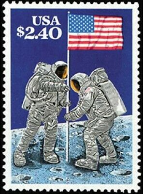 Moon Landing 20th Anniversary Stamp #2419 Mint NH 1989 Priority $10.50 RetailVal