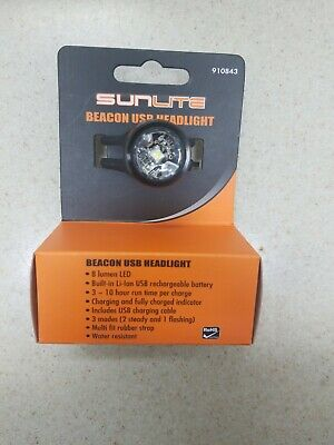 Sunlite Beacon USB Headlight Light Sunlt Ft 1-led Beacon Usb Bk
