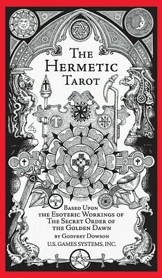 The Hermetic Tarot Deck by Godfrey Dowson w/ 70 Page Booklet USGS