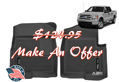 (Closeout) Husky X-Act Contour Black Rubber Front Floor Mats 2009-14 Ford F-150
