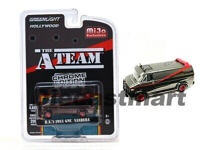 Greenlight 1:64 The A Team Chrom Edition B. a. 'S 1983 GMC Vandura 51225 Diecast