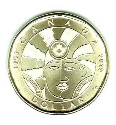 1969 - 2019 - Equality Loonie Near Perfect Coin