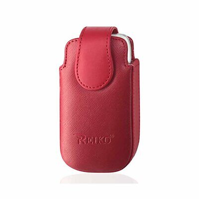 Red Leather Case Vertical fits Cingular Flip 2 phone