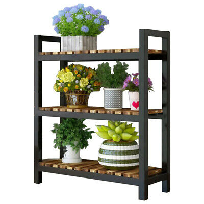 3 Layers Steel Warehouse Rack Shelving Racking Garage Storage Shelves Black L:80
