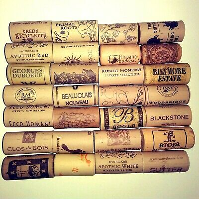 LOT of 250 Synthetic Wine Corks Used Assorted Vineyards Arts Crafts Weddings