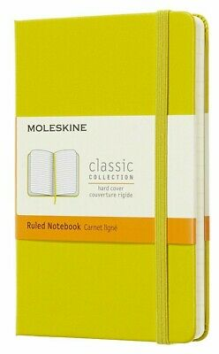 New Moleskine Classic Pocket Ruled Hardcover Notebook Dandelion Yellow 3.5 x 5.5