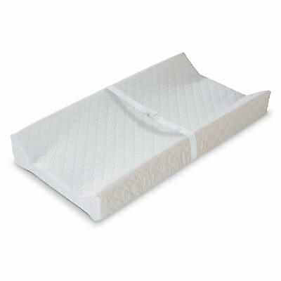 """Quilted Infant Contoured Secure Baby Diaper Changing Table Pad w/Anchor 16""""x32"""""""