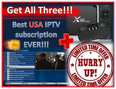 CABLE NO MORE - 1-Year IPTV Service Only $79 99 - FAST, Same Day