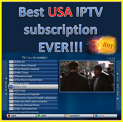 IPTV USA 12 month 8000 premium subscription with int'l  BEST 2019 HURRY!!!