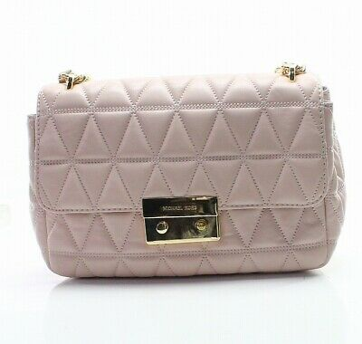8e68ae1d884a Michael Kors Soft Pink Quilted Sloan Leather Chain Shoulder Bag Purse $328-  #048
